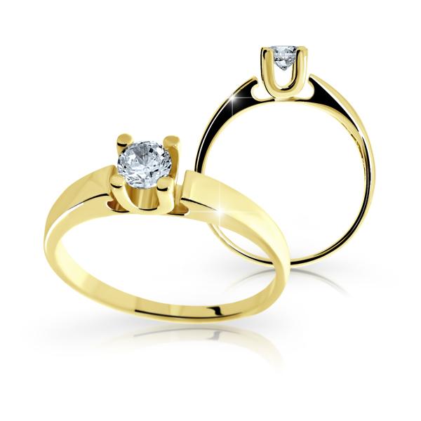 Zásnubní prsteny žluté zlato DF1958
