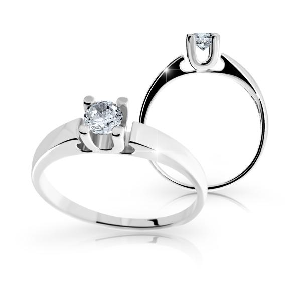 Zásnubní prsteny bílé zlato DF1958