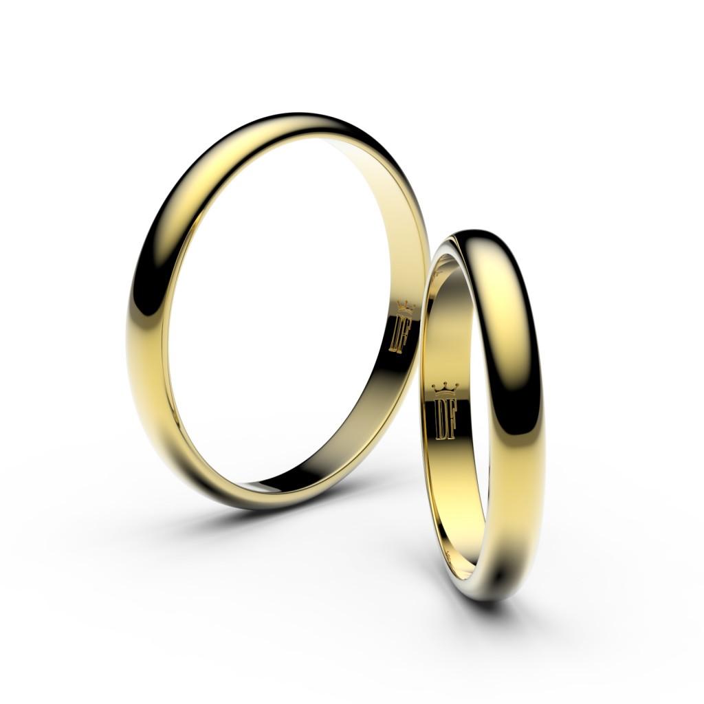 snubní prsteny žluté zlato