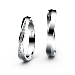 Snubní prsteny ze stříbra 3017,3018