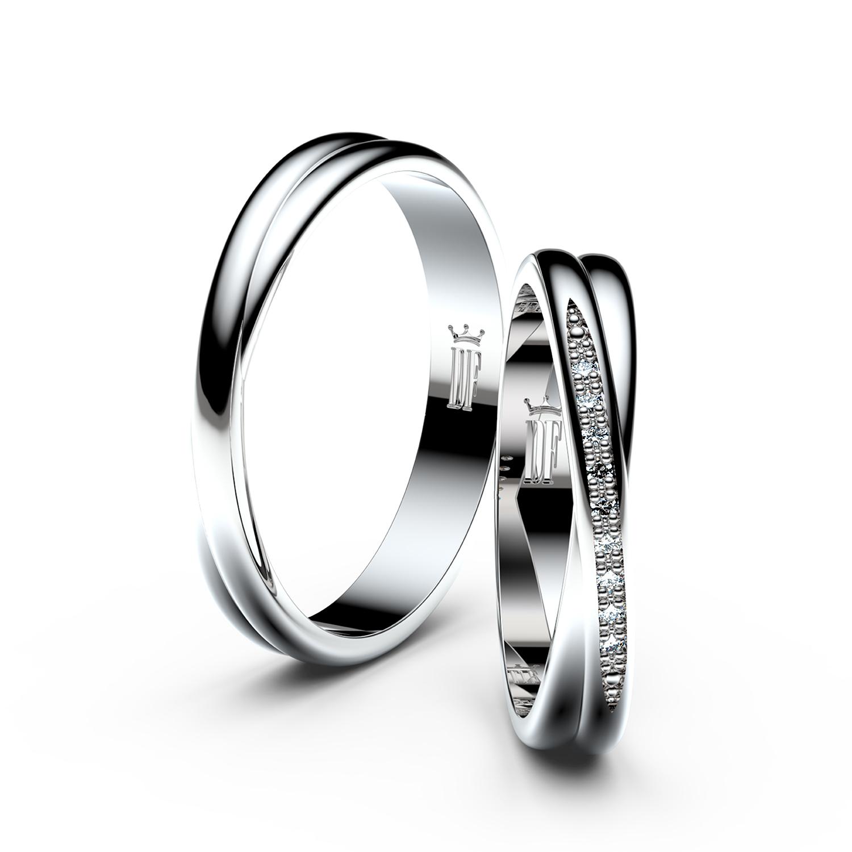 snubní prsten z bílého zlata