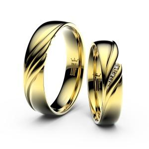 snubni prsteny danfil zlute zlato