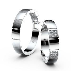 Snubni prsteny z bileho zlata