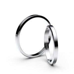 Snubní prsteny z bílého zlata 4A25