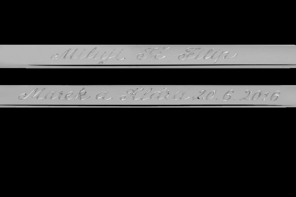 Texty rytin snubní prsteny