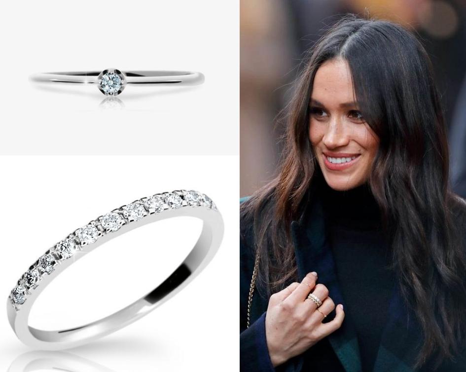 prsteny s diamanty Meghan Markle