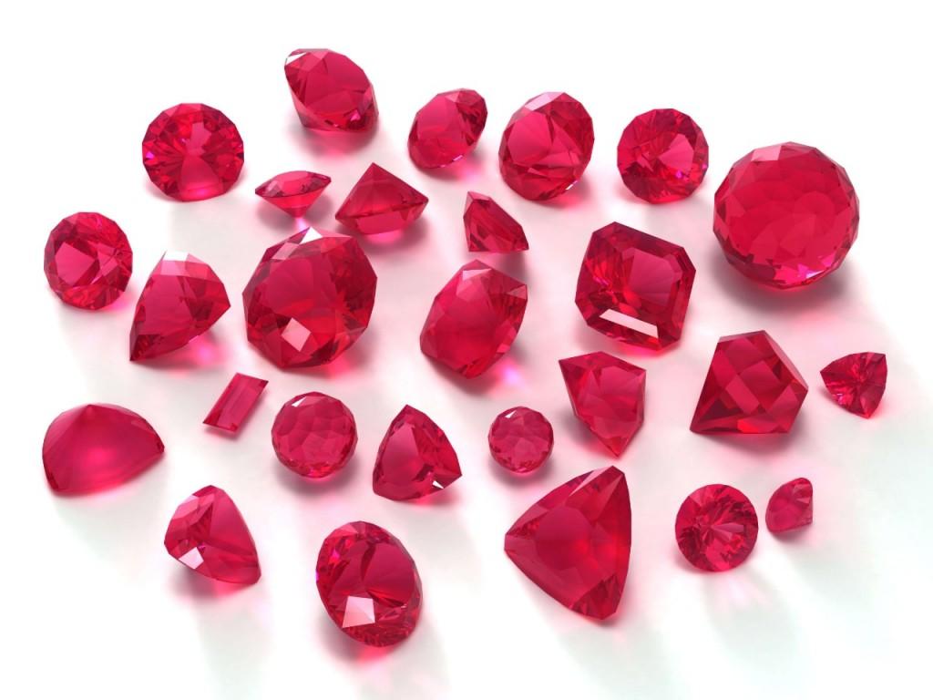 červené kameny
