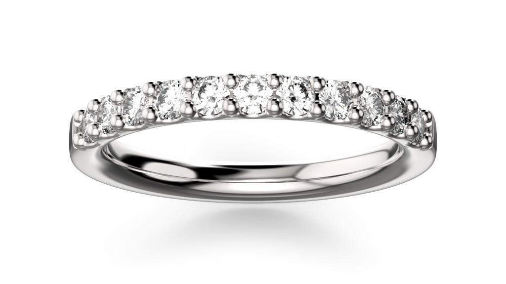 Snubní prsten s krapnovým uchycením