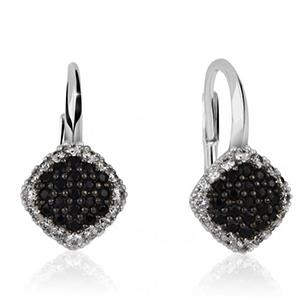 Náušnice s černými diamanty
