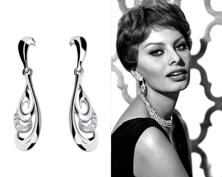 Náušnice s drahými kameny Sophia Loren