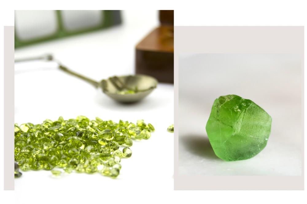 přírodní peridot - olivín