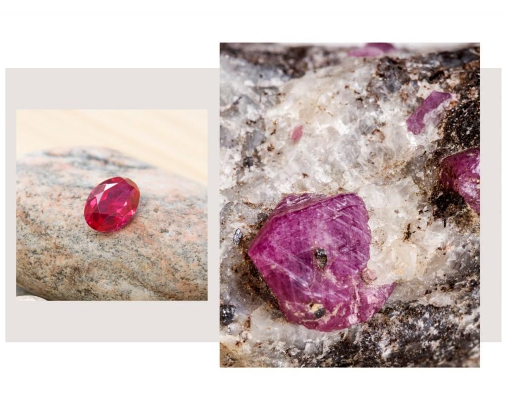 přírodní rubín a jeho vlastnosti