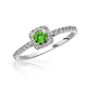 Zásnubní prsten Danfil se smaragdem Danfil