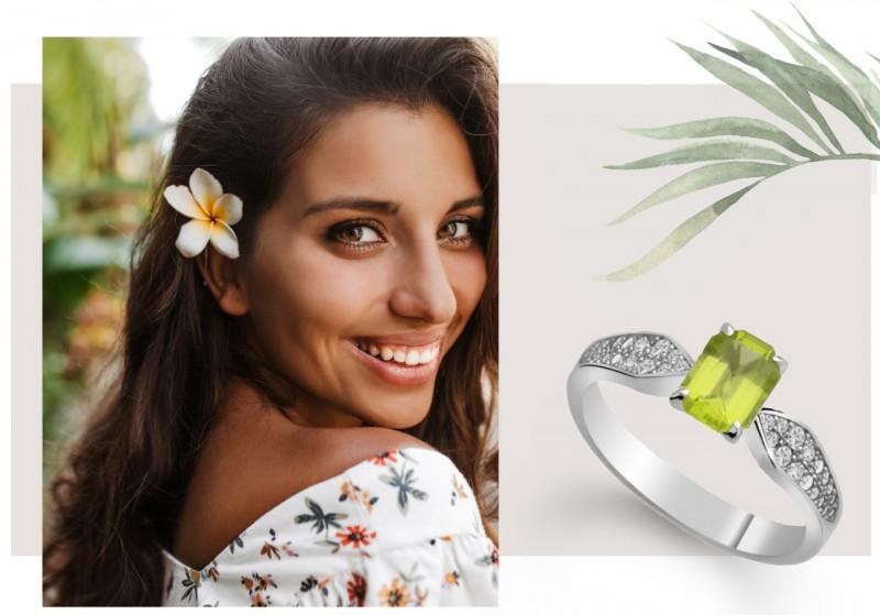 šperky s olivínem