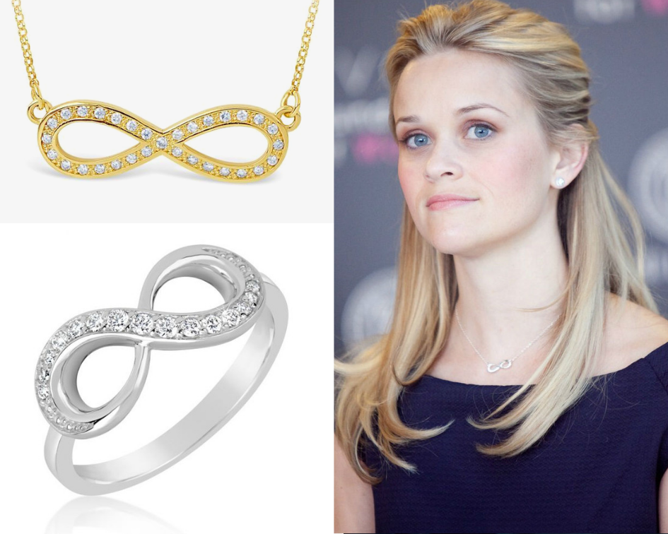 šperky se symbolem nekonečna - reese witherspoon