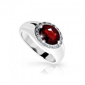 zlatý prsten s almandinem