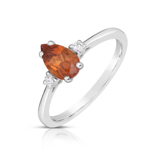 luxusní prsten s citrínem